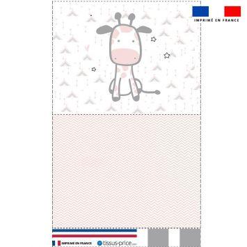 Kit pochette motif baby rose et gris