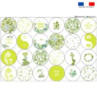 Coupon éponge pour lingettes démaquillantes forme ronde motif GREEN