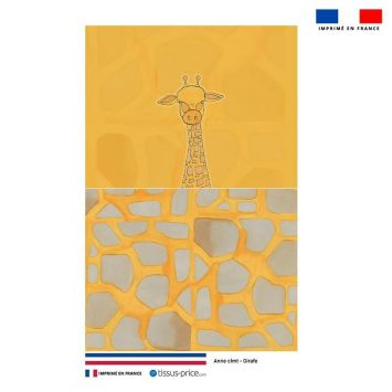 Kit pochette jaune motif girafe - Création Anne Clmt