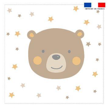 Coupon 45x45 cm motif baby marron et ocre