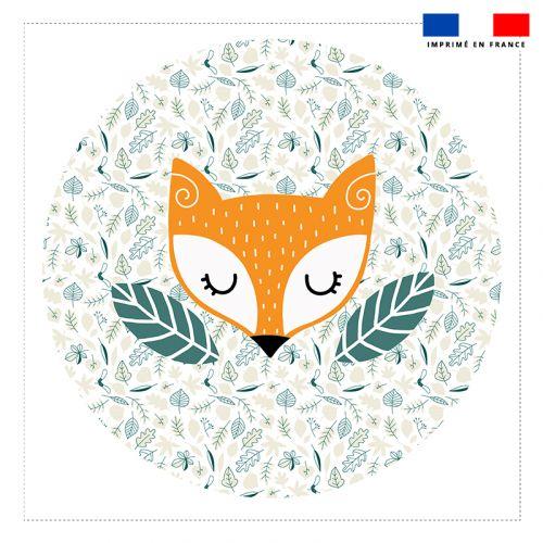 Coupon 45x45 cm motif animaux de la forêt