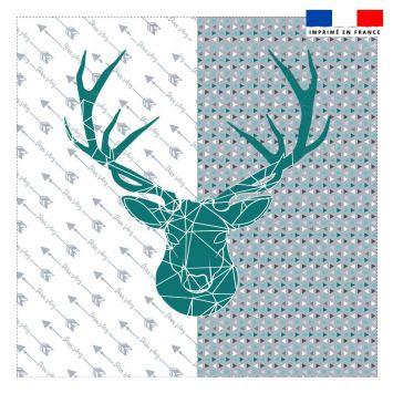 Coupon 45x45 cm motif cerf