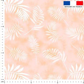 Tie and dye et palme effet aquarelle - Fond beige