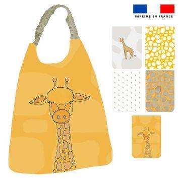 Lot de 5 coupons éponge pour serviettes de table pour enfant motif girafe - Création Anne Clmt