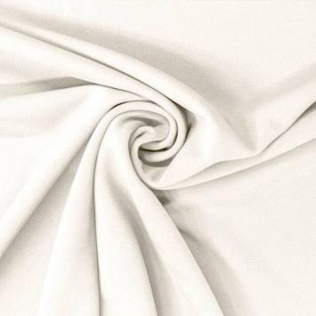 coupon - Coupon 50x70cm - Tissu scuba crêpe blanc cassé