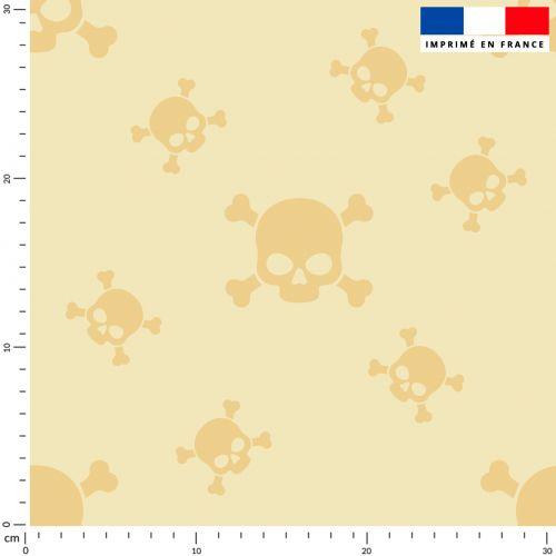 Tête de mort - Fond beige