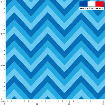 Chevron - Fond bleu