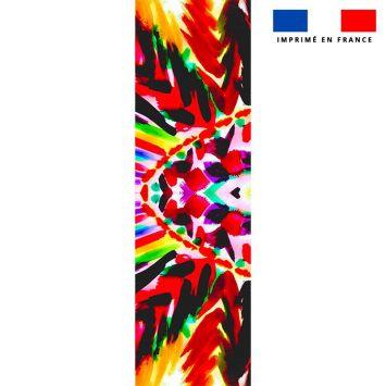 Coupon 45x150 cm tissu imperméable motif ethnique pour transat - Création Jeanne Garreau