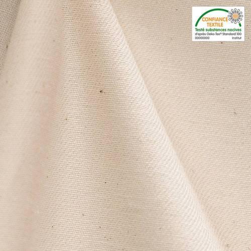 Toile coton naturelle oeko-tex grande largeur