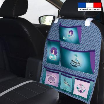 Patron pour organisateur de voiture motif sirène + Kit pochette Offert