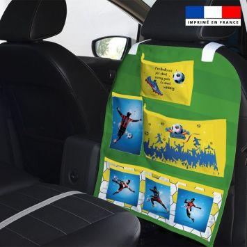 Patron pour organisateur de voiture motif football championship + Kit pochette Offert
