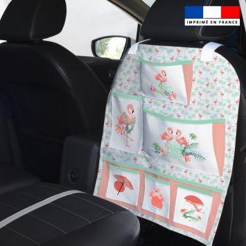 Patron pour organisateur de voiture motif flamant rose + Kit pochette Offert