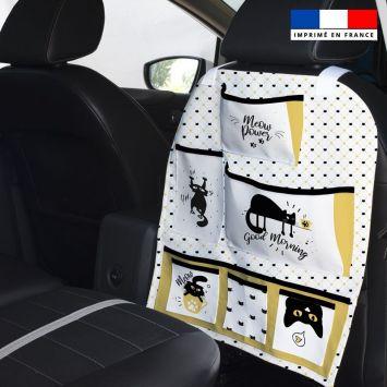 Patron pour organisateur de voiture motif chat + Kit pochette Offert