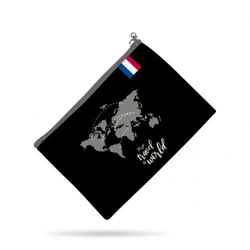 Patron pour organisateur de voiture motif géométrique noir + Kit pochette Offert
