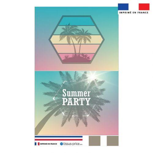 Kit pochette motif summer party
