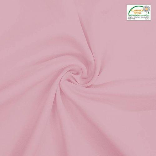 Rouleau 20m Burlington infroissable Oeko-tex rose dragée 280cm grande largeur