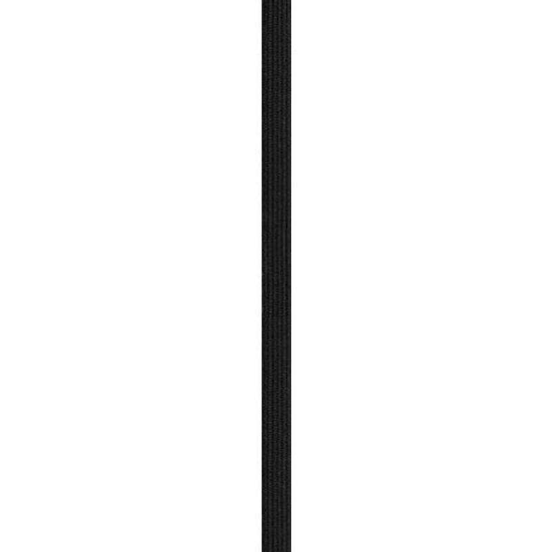 Rouleau 50m d'élastique noir 10 mm