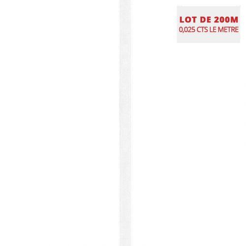 Lot de 200M d'élastiques de lingerie blanc 9 mm