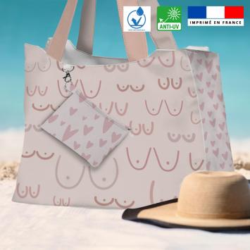Kit sac de plage imperméable motif boobies - King size - Création by Tonckka
