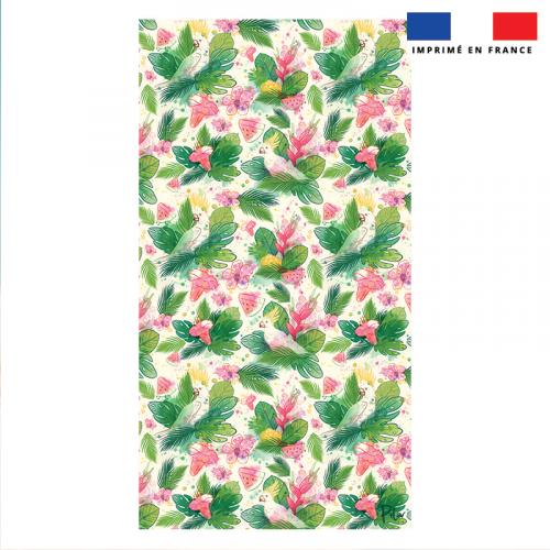 Coupon éponge pour serviette de plage simple motif pastèque et feuille exotique - Création Pilar Berrio