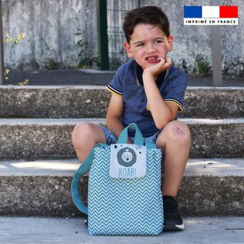 Kit sac à dos enfant motif baby bleu