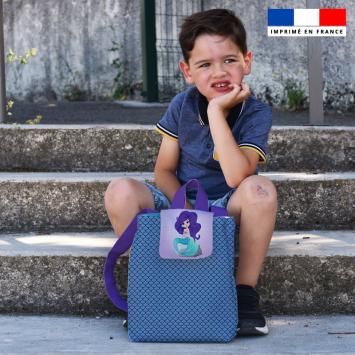 Kit sac à dos enfant motif sirène
