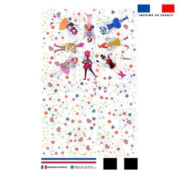 Kit pochette motif poupées - Création Lita Blanc