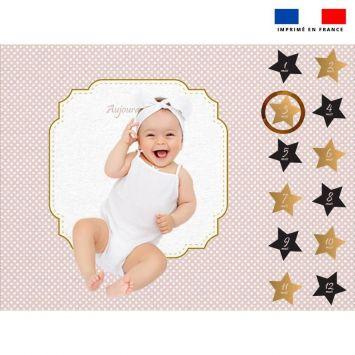 Coupon 100x75 cm pour couverture mensuelle bébé motif art déco