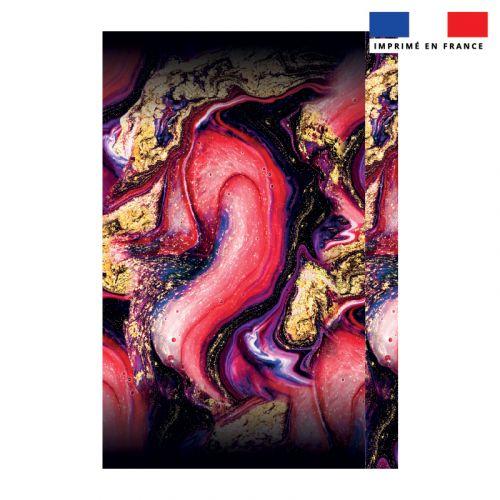 Coupon 135x200 cm de mousseline pour poncho de plage motif magma
