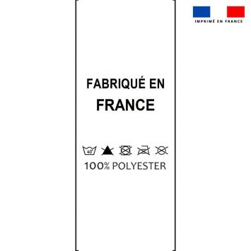 Lot x50 étiquettes imprimées 25x70 mm 100% polyester