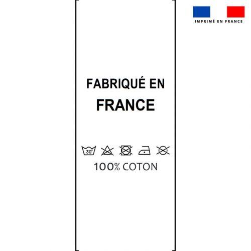 Lot x50 étiquettes imprimées 25x70 mm 100% coton
