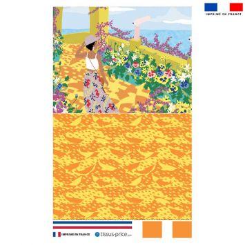 Kit pochette motif jardin au bord de mer - Création Julia Amoros