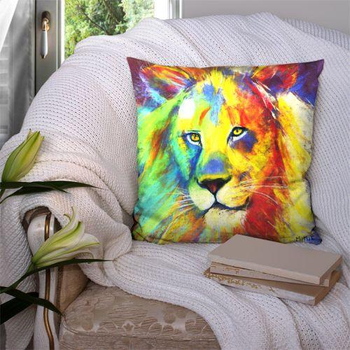 Coupon 45x45 cm motif lion - Création Mimie