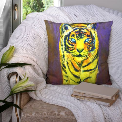 Coupon 45x45 cm motif tigre - Création Mimie