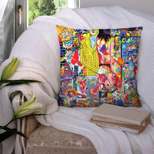 Coupon 45x45 cm motif clac recto - Création Khosravi