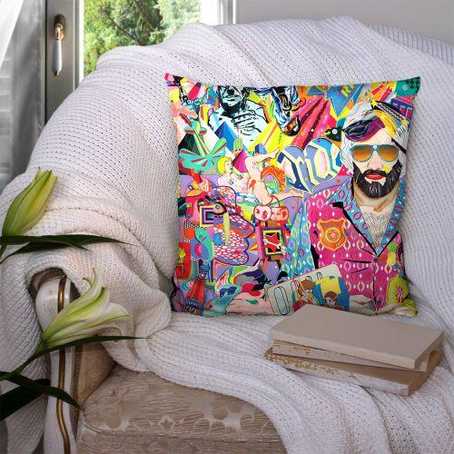 Coupon 45x45 cm motif windsor recto - Création Khosravi