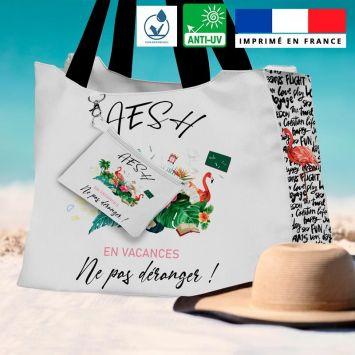 Kit sac de plage imperméable motif AESH en vacances - King size