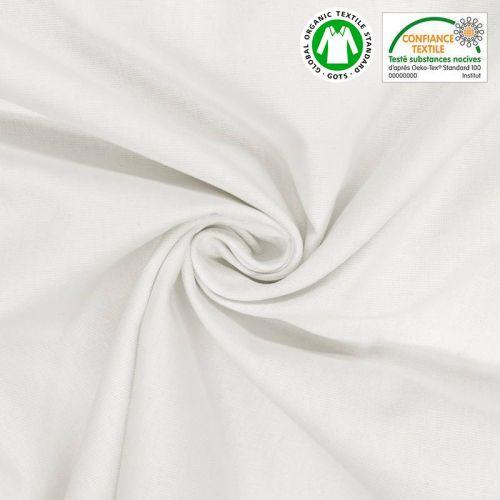Toile coton blanche oeko-tex grande largeur