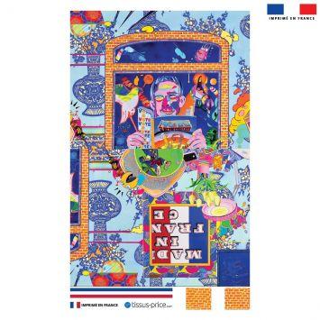 Kit pochette motif made in france - Création Khosravi