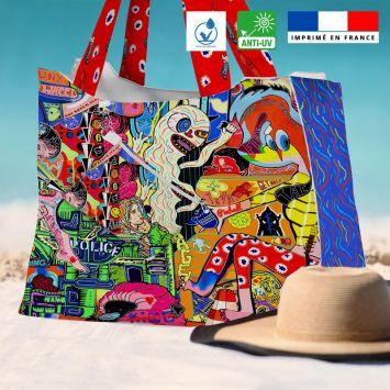 Kit sac de plage imperméable motif love story - Queen size - Création Khosravi