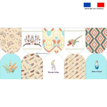 Kit mini-gants nettoyants motif boho