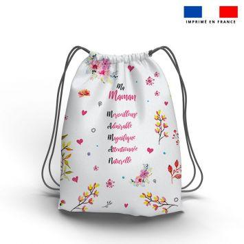Kit sac à dos coulissant motif maman