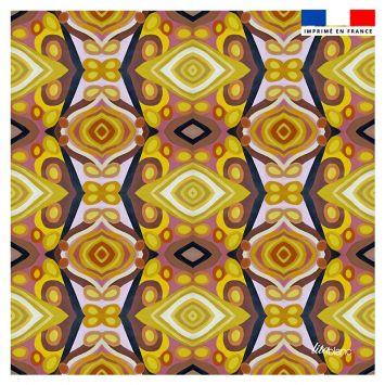 Coupon 45x45 cm motif abstrait miroir losange - Création Lita Blanc