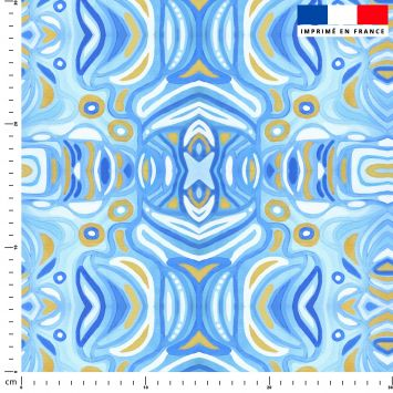 Abstrait nuances de bleu - Création Lita Blanc