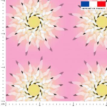 Mouettes - Fond rose - Création Lita Blanc