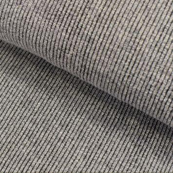 Tissu lainage côtelé tout doux gris