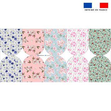 Kit mini-gants nettoyants motif fleurs champêtres