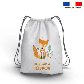 Kit sac à dos coulissant motif animaux de la forêt