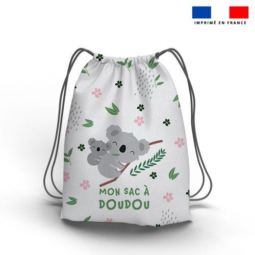 Kit sac à dos coulissant motif baby koala