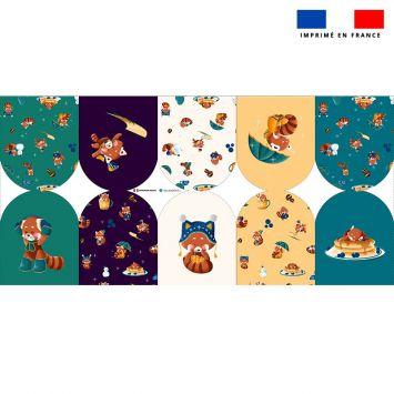 Kit mini-gants nettoyants motif panda roux